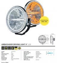 DRIVING LIGHT AMBASSADOR - LED - 230mm