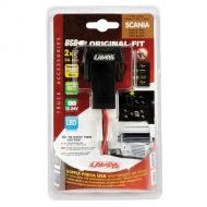 Original-Fit, double USB charger 12/24V - SCANIA